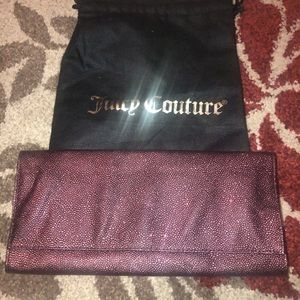 Authentic Juicy Couture Leather Clutch Handbag
